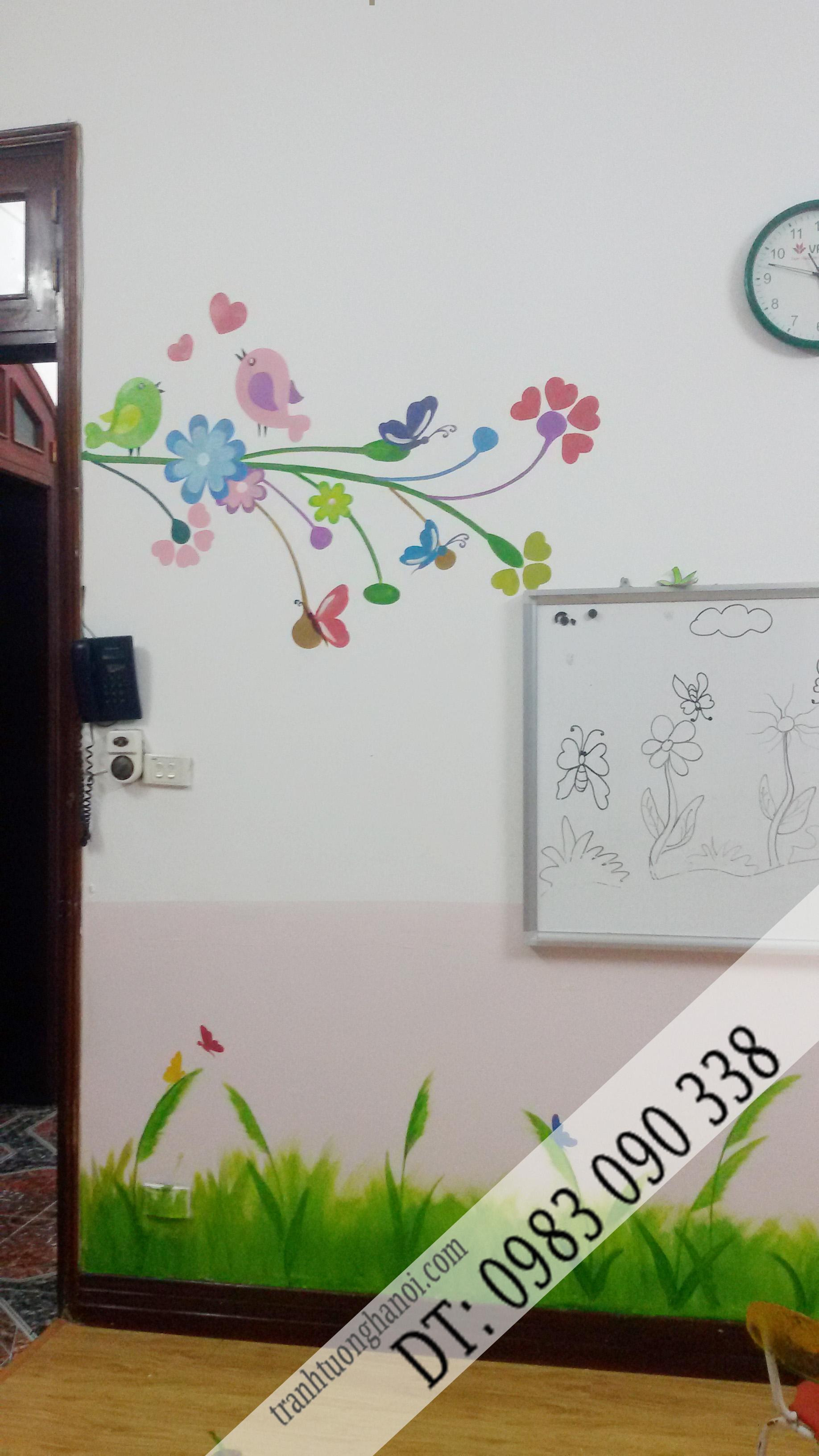 vẽ tranh tường trường mầm non kidlinks